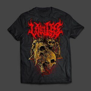 Lowlife Goat Skull Band Merch Mens T-Shirt